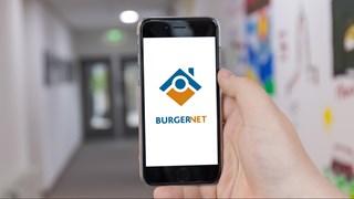 Burgernet (logo op mobiel)