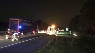 Ongeluk op A1 bij Deurningen