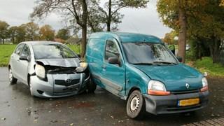 Flinke schade bij botsing in Bornerbroek