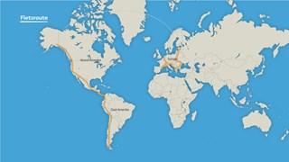 route voor wereldreis