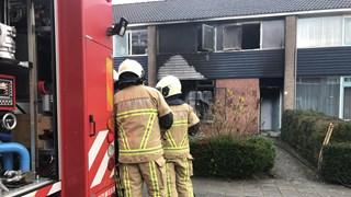 De woning brandde volledig uit