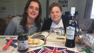 Sallandse boeren aan de Engelse kerstdis in Dijkerhoek