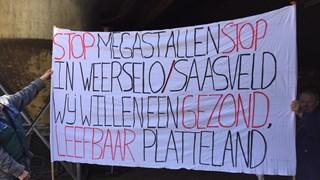 Protest tegen de megastal vorig jaar