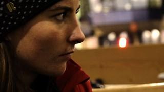 Annebet Dekker Concentratie voor de wedstrijd