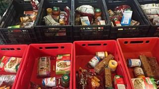 Voedselpakketten klaar voor uitgifte