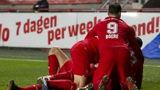 Twente viert een van de drie treffers
