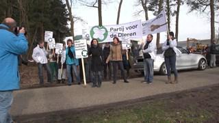 Protest PvdD bij mestvergister in Dalfsen