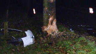 Auto tegen boom in Losser