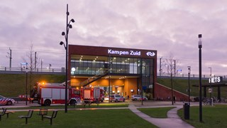 Station Kampen-Zuid afgesloten
