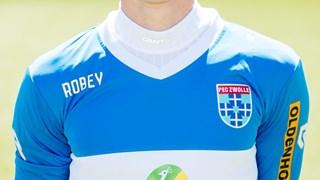 Robey was twee seizoenen kledingsponsor van PEC Zwolle