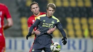 Schenk tijdens het duel tegen Jong PSV