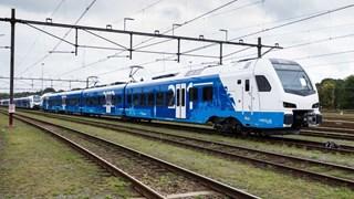 Een trein van nieuwe vervoerder Keolis