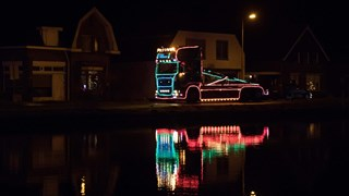Verlichte trucks in Vroomshoop