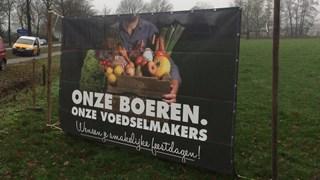 Boeren willen imago opschonen met spandoeken