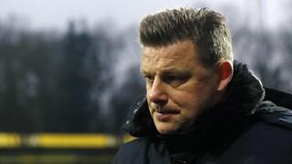 John Stegeman baalt van de nederlaag tegen VVV-Venlo