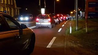 Ravage na een frontale aanrijding in Enschede