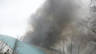 Grote brand in voormalig zwembad Kampen