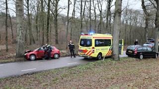 Auto tegen boom in Vilsteren