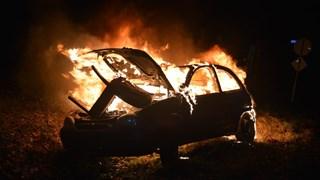 Auto in vlammen op in Vroomshoop