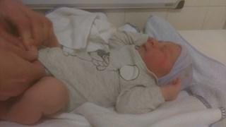 Thijn is het eerste jongetje dat in Overijssels ziekenhuis is geboren