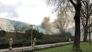 Brand in oude zwembad Kampen