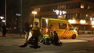 Fietsster gewond naar het ziekenhuis