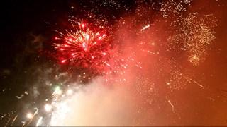 Vuurwerk tijdens Oud en Nieuw