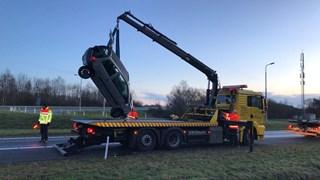 Auto in de sloot bij Oldenzaal, bestuurder spoorloos