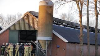 Brand op boerderij in Markelo