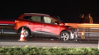 File op de A1 tussen Rijssen richting Bathmen door ongeluk