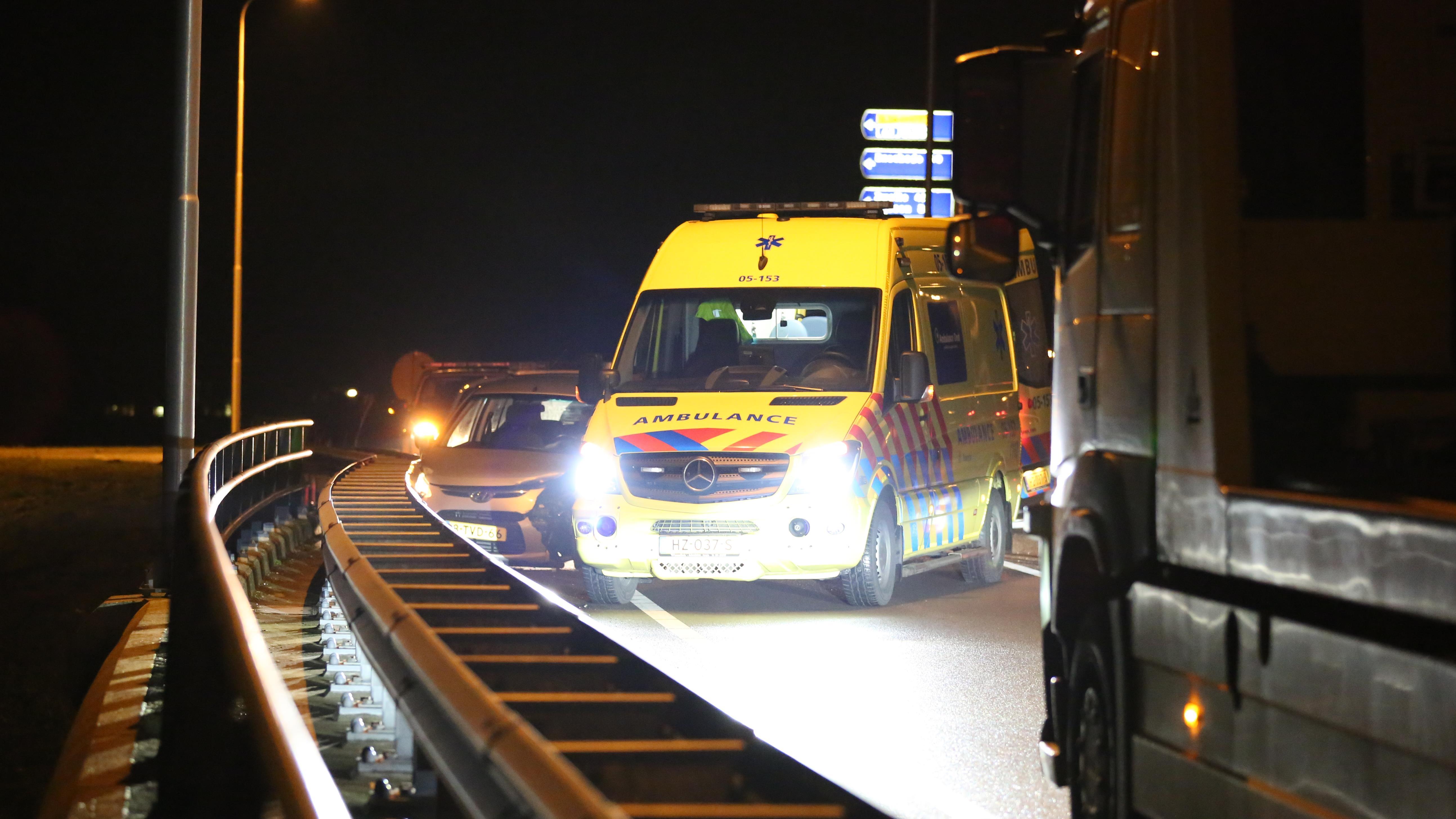 Gewonde bij ongeval op viaduct over N36 bij Almelo