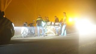 Door onbekende oorzaak raakte een scooterrijdster gewond