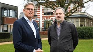 Wethouder Michel Kotteman en Lex Nijhuis