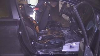 De auto raakte van binnen zwaar beschadigd