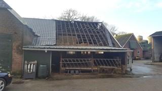 De schade aan de stal van boer Willems