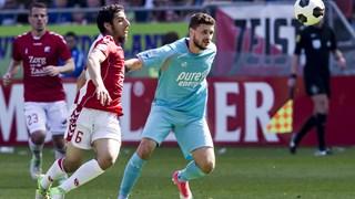 Klich in het shirt van Twente tegen Utrecht