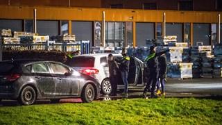 De achtervolging eindigde in een crash in Kampen