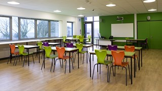 Leeg klaslokaal