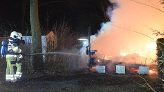 Brand op camping in Hardenberg