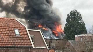 Bij de brand ontstond veel rook