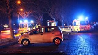 De voetganger ging met een ambulance mee naar het ziekenhuis