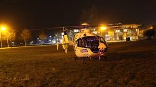 Een traumahelikopter landde in de buurt