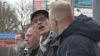 Mark Doorn (l) en Anne Geert Dijk bij VV Berkum