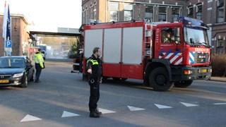 Brandweer bezig met vernevelen