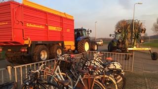 Landbouwvoertuigen zijn gevaarlijk voor fietsers