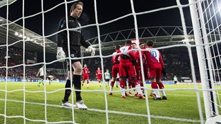 Diederik Boer na de 1-0 van FC Utrecht