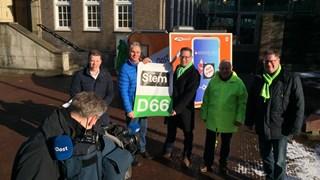 Haaksberger politiek presenteert zich bij de RTV Oost-karavaan