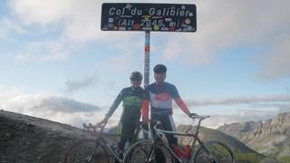 Dorien en Iwan, samen op de top van de Galibier