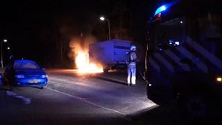 Vrachtwagen in brand in Hengelo