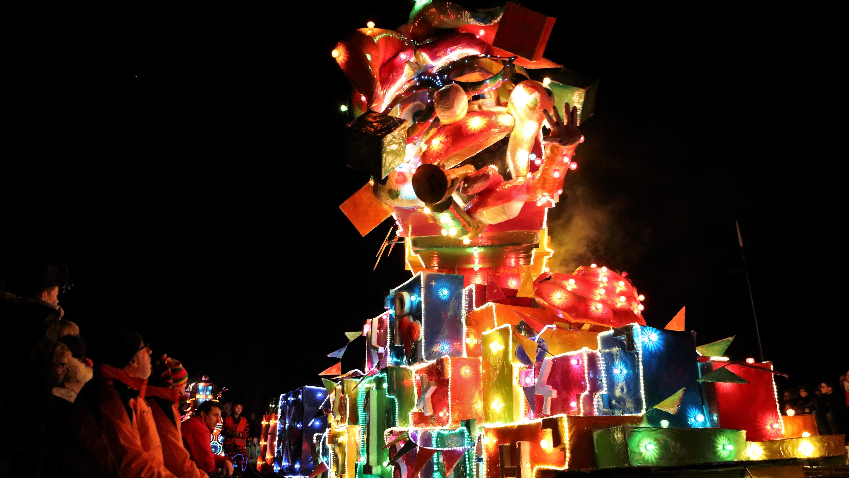 In beeld: De verlichte carnavalsoptocht in Lemelerveld